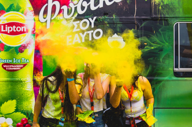 Capture from Colour Day festival 2017 event wich was held in Athens Greece